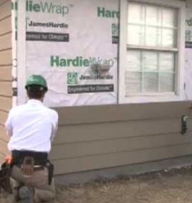 James Hardie Wrap On A Home