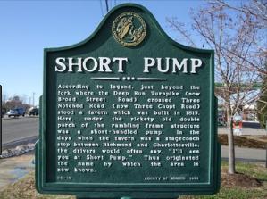 Short Pump, VA historical sign