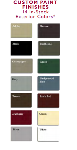 Interstate exterior paint finishes