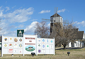 Mechanicville welcome sign