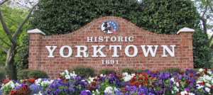 Historic Yorktown Brick Sign