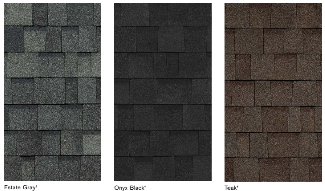 Dark color options for roofs