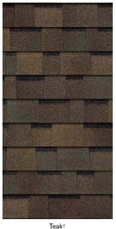 Teak color roofing shingles