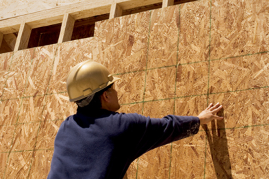Installation of exterior sheathing