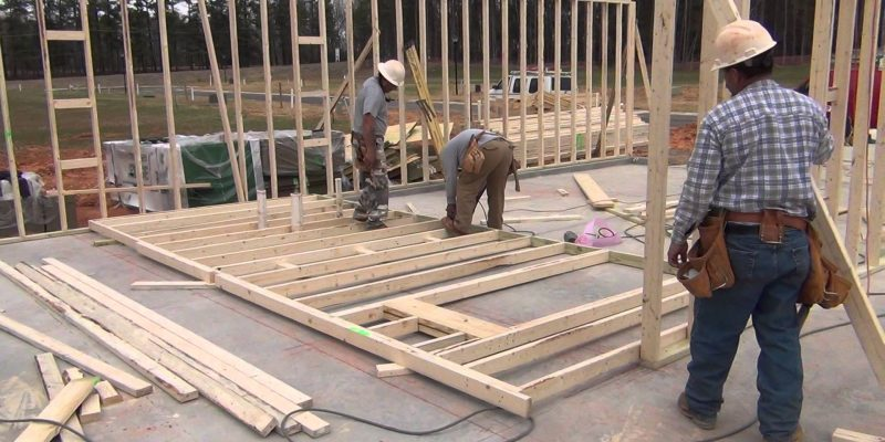 Production of house framing