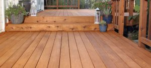 Stained Back Porch Deck
