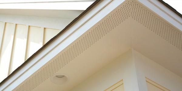 Vented soffit panels