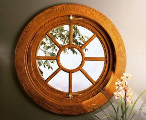 Beautiful wood round window