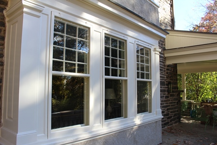 White storm window