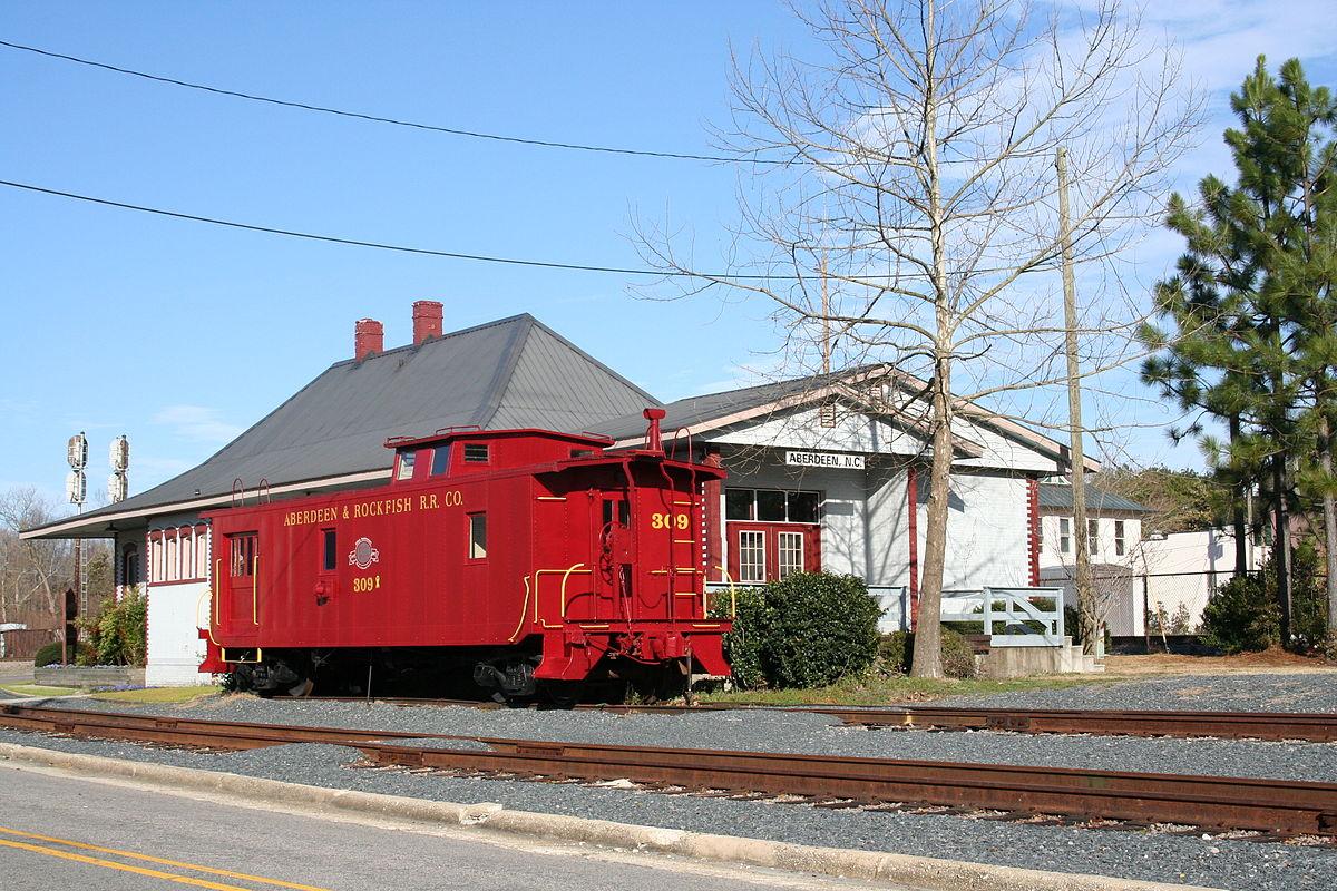 Aberdeen, NC Train Exhibit