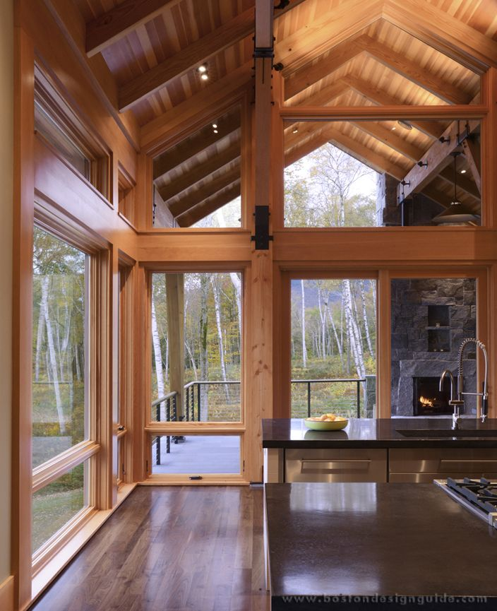 Mountain Style Home With Awning Windows
