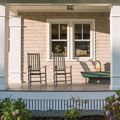 Front Porch- Double Hung Windows