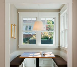 Built In Kitchen Seating -Double Hung Windows