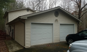 Fletcher, NC Vinyl Siding Garage Before Remodel