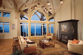 Geometrical Mountain Home Windows
