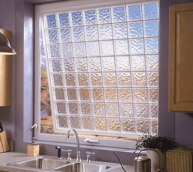 Kitchen Glass Block Windows