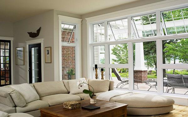 Hopper Windows In Living Room