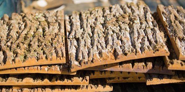 natural bark siding