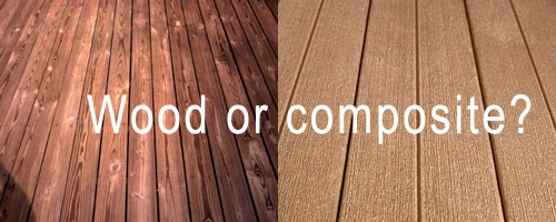 Wood or composite decking options