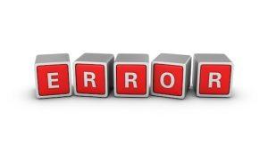 Simple errors to avoid