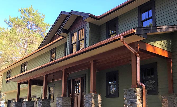 Installation Of Copper Gutters
