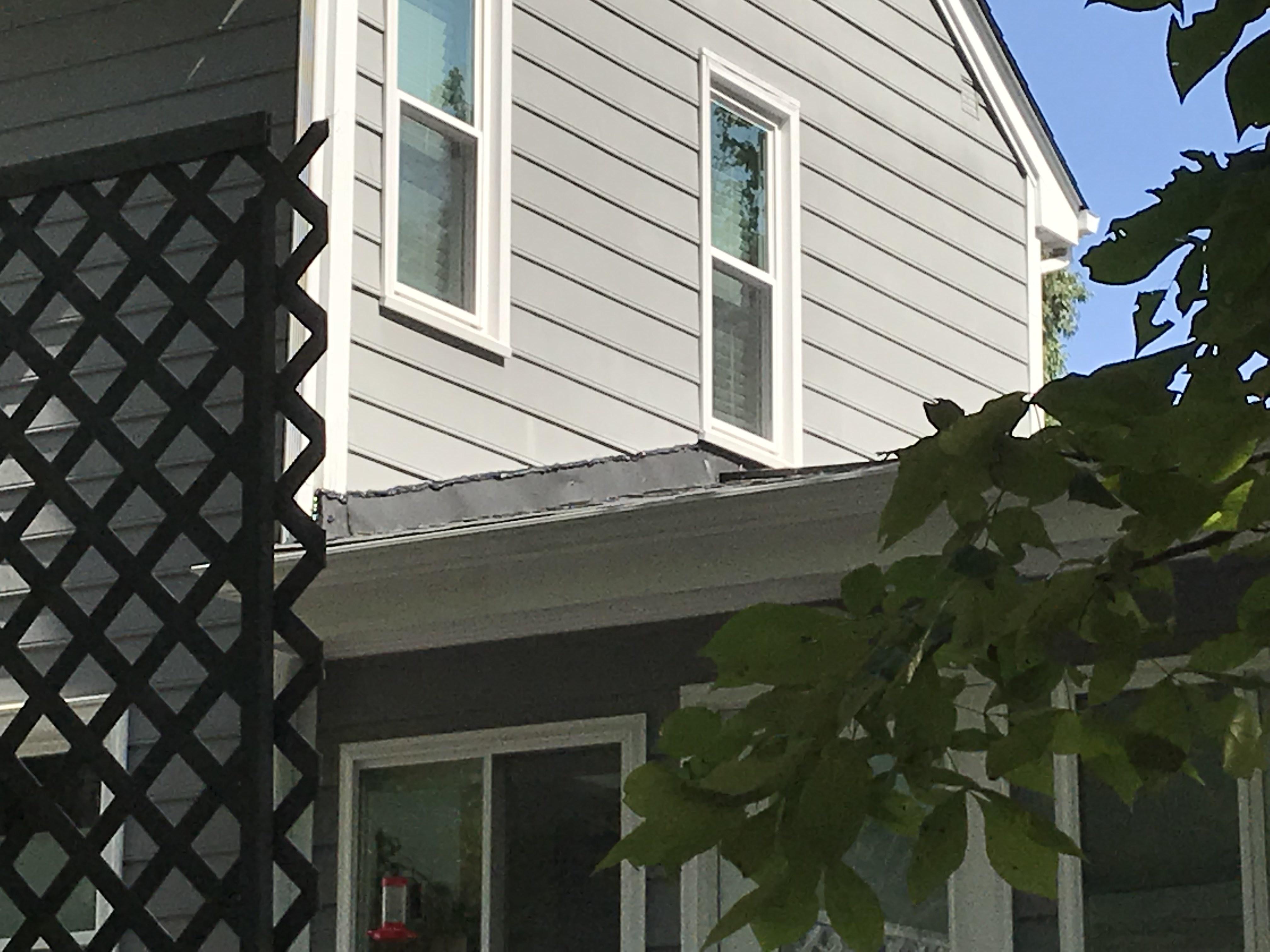 Incorrect Roof Flashing