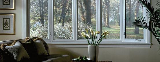 Interstate windows in living room