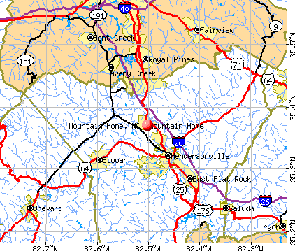 Map Of Mountain Home, NC