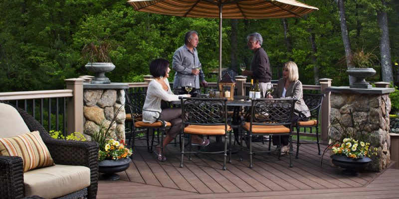 Families Enjoying Outdoor Living Space