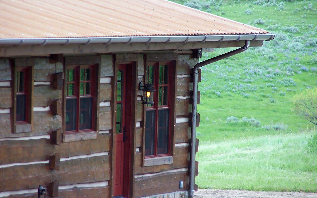Half Round On Cabin