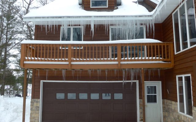 ice dams on decks and porches