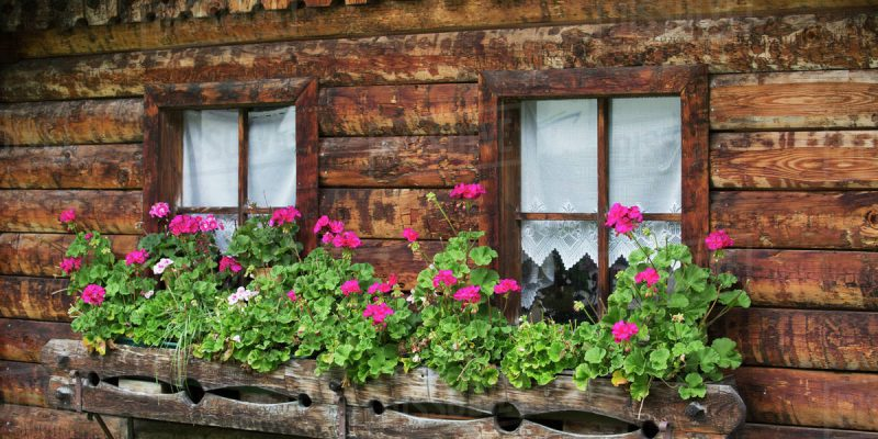 Rustic Mountain Flower Boxes