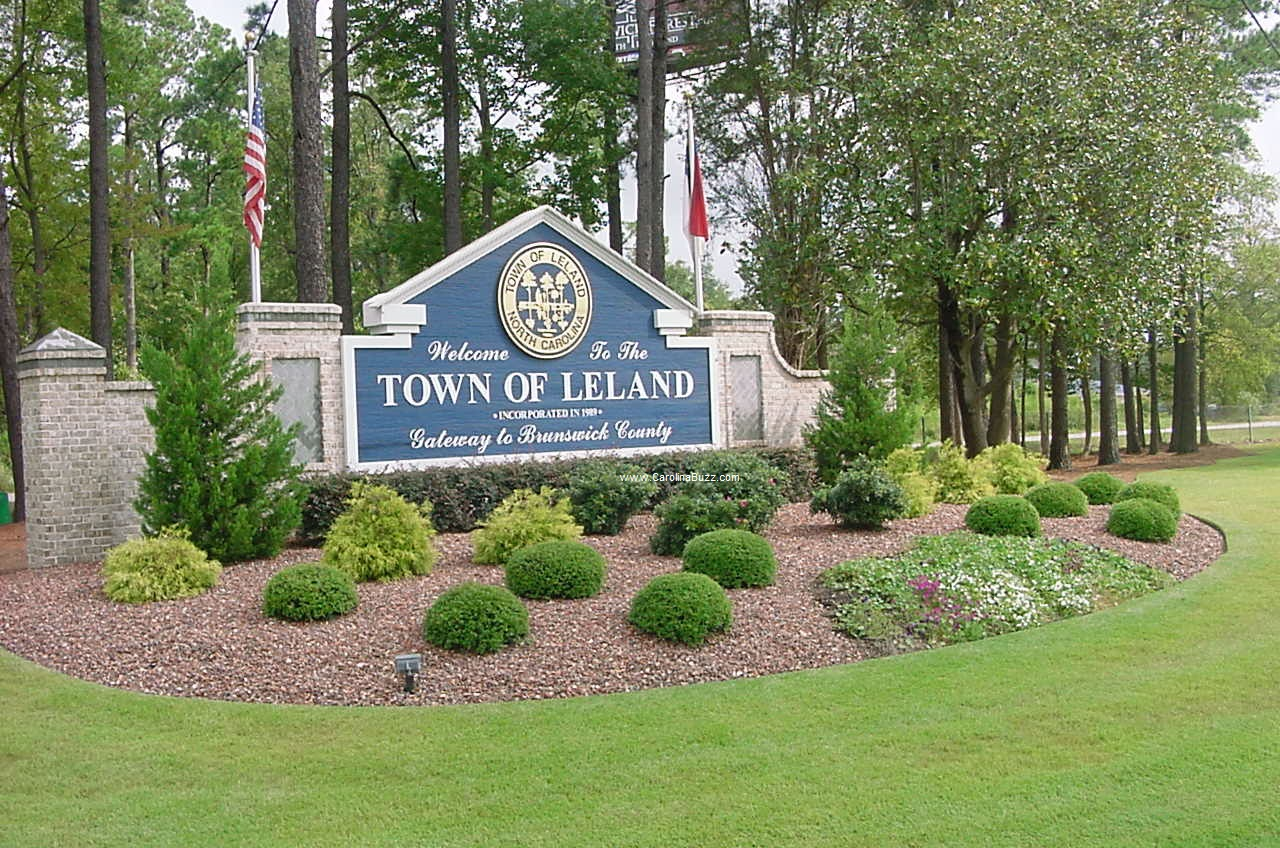Town Sign For Leland, NC