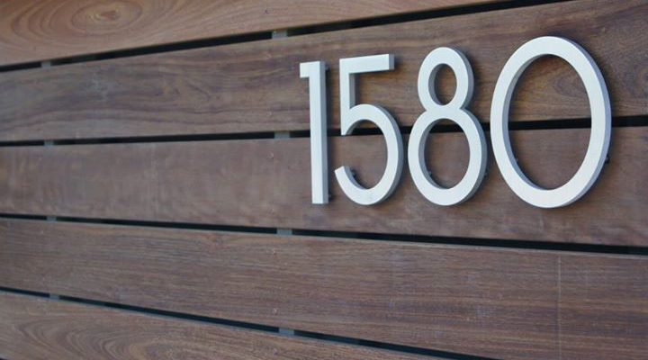 Large Modern House Numbers