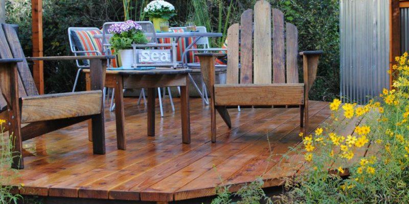 back yard decks