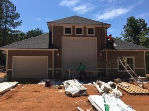 James Hardie Siding Being Installed