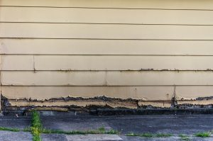 damaged siding due to age