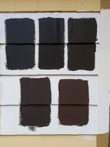 Paint Swatches On House