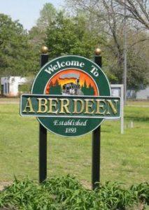 Aberdeen Welcome Sign