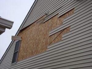 Wind Damage to Siding