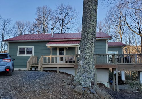 Hardie Mountain Sage & Metal Roof