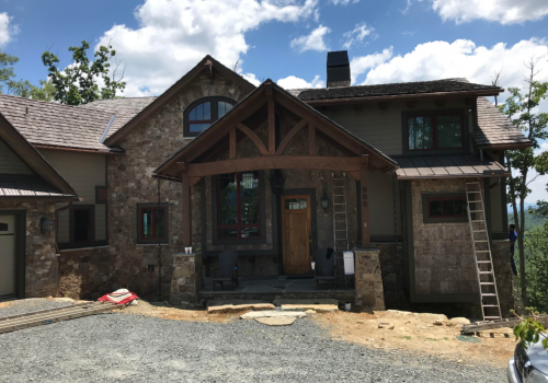 Boone NC Home- Front Of Home Makeover In Progress