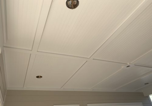 Porch Ceiling with Bead Board