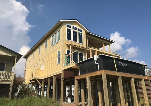Hardie Installation On Beach Front Home