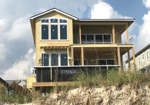 Ocean Front Hardie Installation in Oak Island, NC