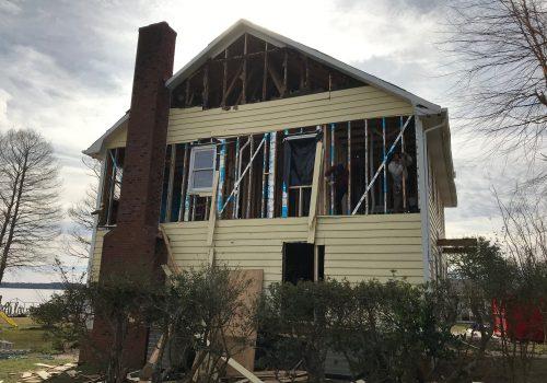 Siding Demo on Swansboro, NC House