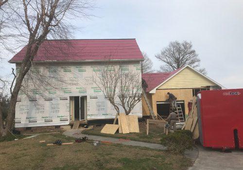 Storm Damaged House Preperation