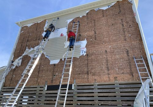 Tearing Off Old Siding and Sheathing