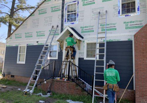 Building a Small Roof Over Door