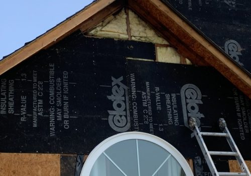 Siding Removed